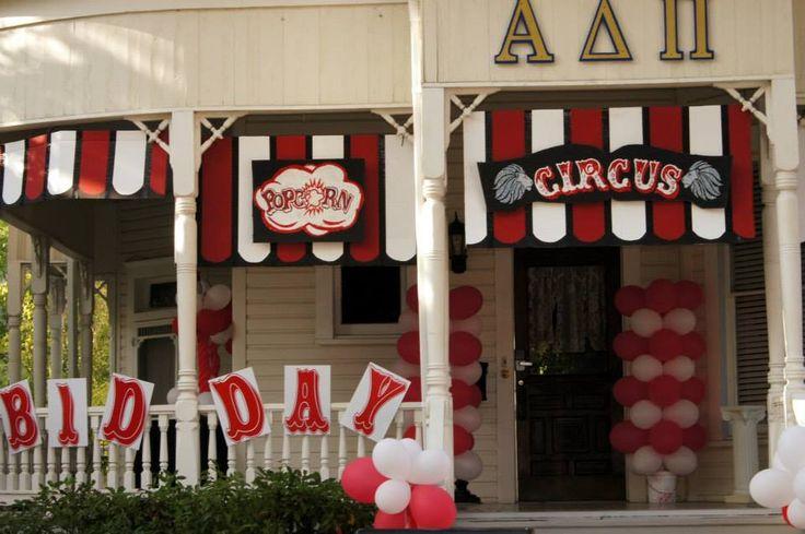 Texas State University ADPi Bid Day!!!  Circus Theme