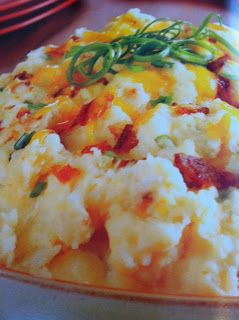 Easy crockpot recipes: Loaded Mashed Potatoes Crockpot Recipe start the PM before, refrig, pull out, put in crockpot for 3 hrs......ready for Sunday Dinner