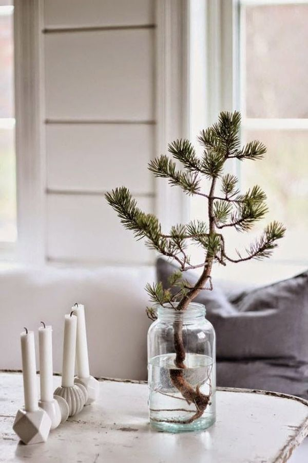 Simple Christmas Jar Decoration Home Ideas