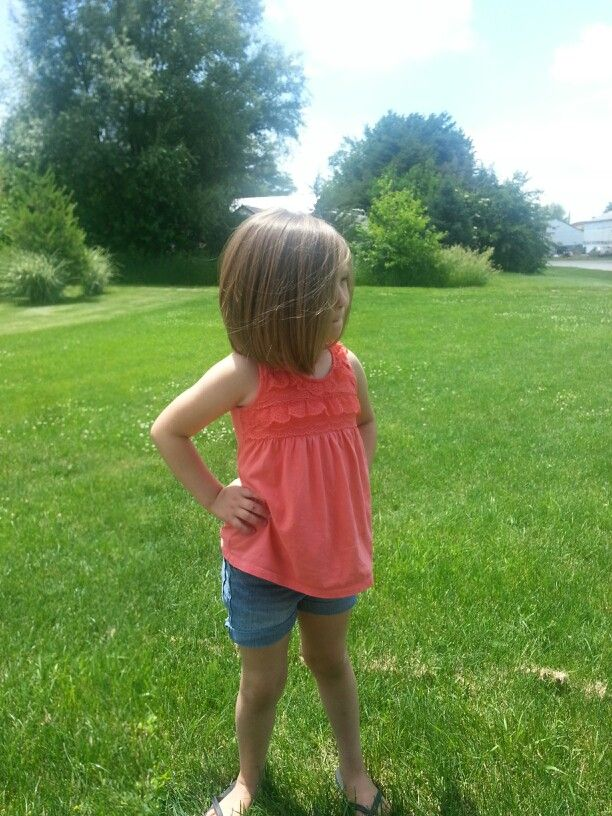 Cute little girls haircut...I'm jealous of a five year old