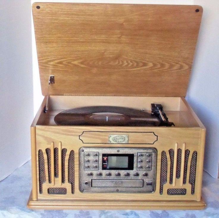 Crosley Spirit of St. Louis Turntable\CD Player\AM/FM Stereo\Cassette #Crosley