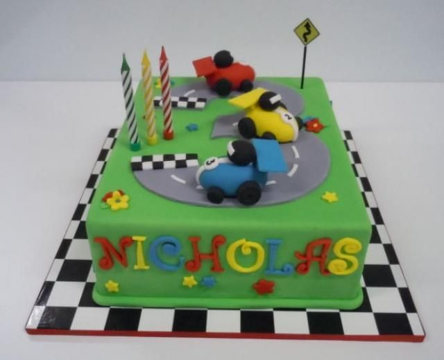 Cake Decorating Car Race Track : Cars cake - updated with pictures Cars, Race track cake ...