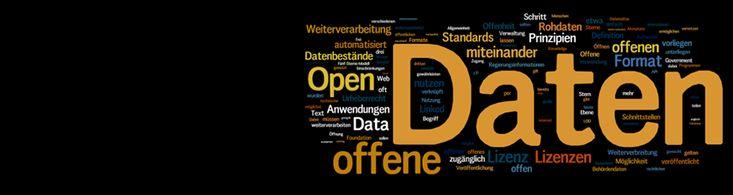 Wordcloud zu Open Data