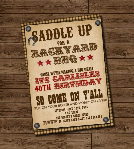Country western party invitation template i found these for Where can i buy party invitations