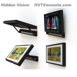 Flip-Around TV Mount - Hide your tv with a picture when not using.