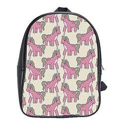 Leather Backpack/Baby Unicorns