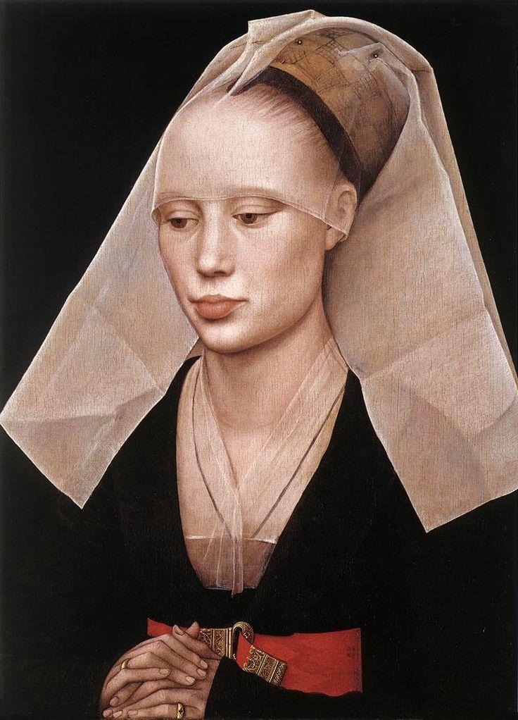 Rogier van der WEYDEN. Portrait of a Lady  c. 1455  Oil on oak panel, 37 x 27 cm  National Gallery of Art, Washington