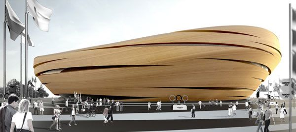 Thomas Heatherwick London Velodrome design. Architecture - building design - cycling - London 2012 - olympics