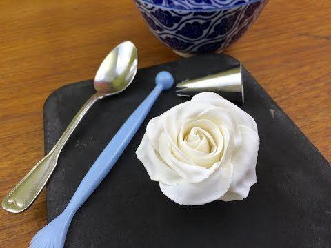 Anleitung Rose aus Blütenpaste (5 Petal Ausstecher - Teil 1)* - YouTube