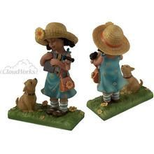 CloudWorks Sweet Memories Ebony Girl with Bible Q484-0192-50031