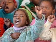 wow, these children are really feeling the power of God, and I cant even get my nephews to stay awake at church, its sad...