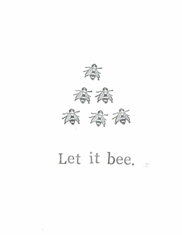 Whisper words of buzzdom. Let It Bee Card   Etsy, $4.00