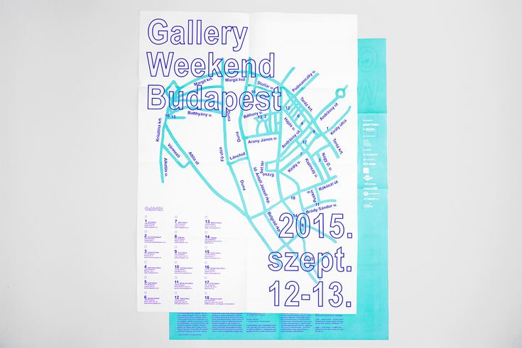 Gallery Weekend Budapest 2015 on Behance