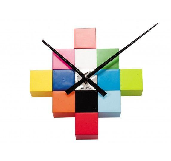 Orologio da muro Fai Da Te Cubic multicolor