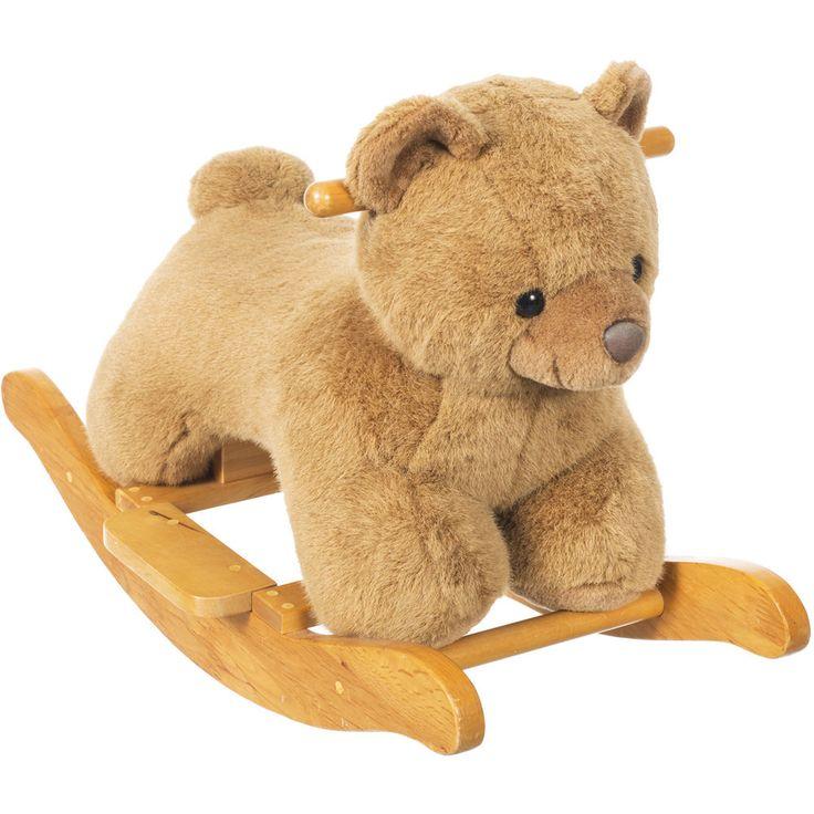 Baby Schaukel Bär Schaukelpferd Plüsch Schaukeltier Holz Schaukel Spielzeug