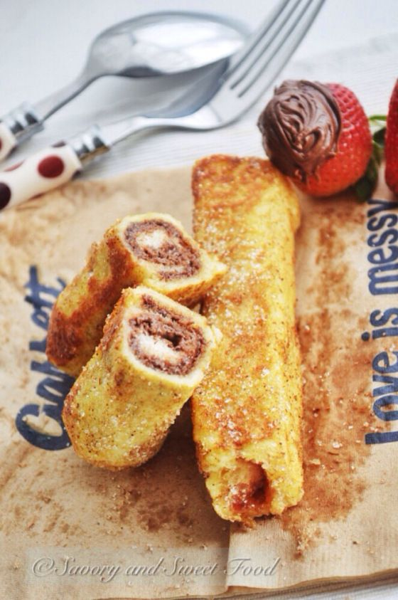 Gourmet style french toast roll ups. This breakfast recipe is a fun french toast alternative.