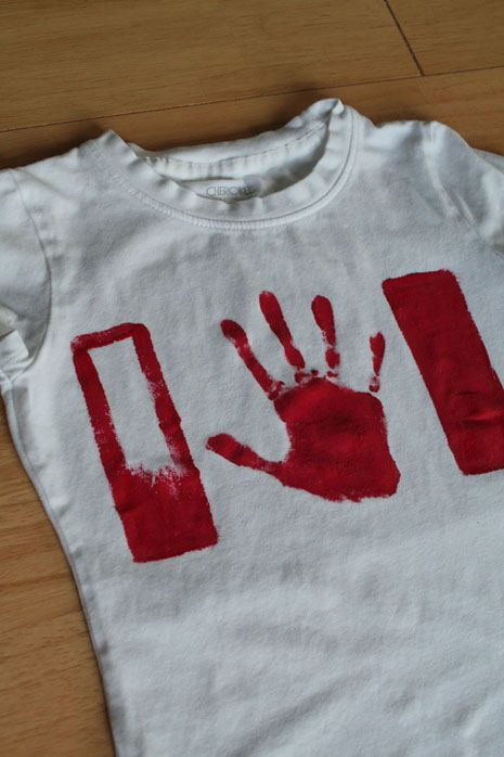 DIY Canada Day Shirts.