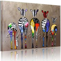 Andy Warhol Pop Art Oil painting canvas Hand-painted Zebra Wall ...