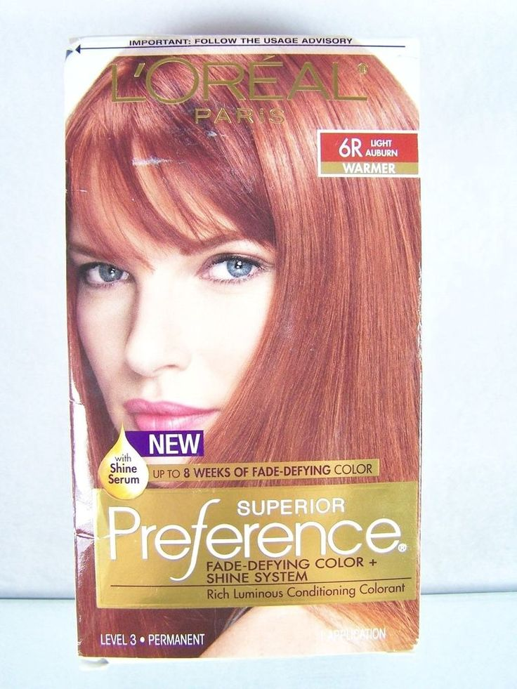 loreal paris superior preference hair color 6r light