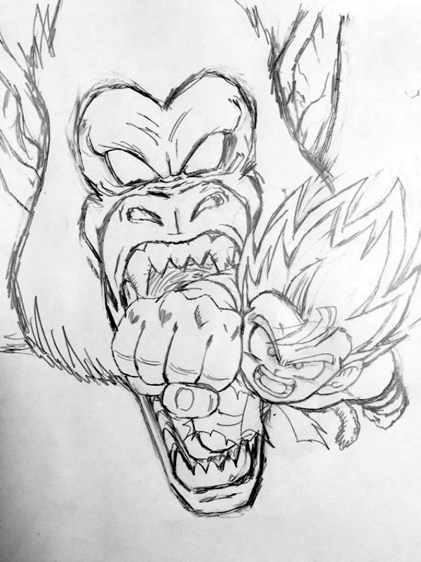 40 Best Examples Of Line Drawing Art Dragon Ball Super Art Dragon Ball Tattoo Dragon Ball Artwork