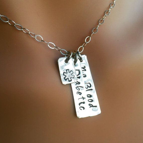 Medical EMERGENCY Alert Sterling Silver Necklace. Design your own to fit your needs.