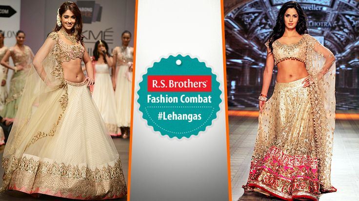 #FashionCombat  Unveil the real traditional Diva in you, by wearing Designer #Lehengas!  These kind of Lehengas always gives a special look in every event. Most of all mega Celebrities give their first preference for this traditional attires to grab all eyes on them! By the way In both who's looking more gorgeous in lehenga? Share your opinion in comments.