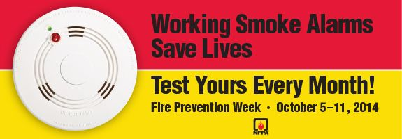 It's Fire Prevention Week! When's the last time you checked the smoke alarms in your home? Get educated on fire safety from the National Fire Protection Association (NFPA).