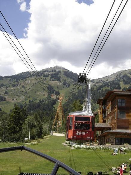 Taking the tram to the top of the Grand Teton! Jackson, WY--Teton Village