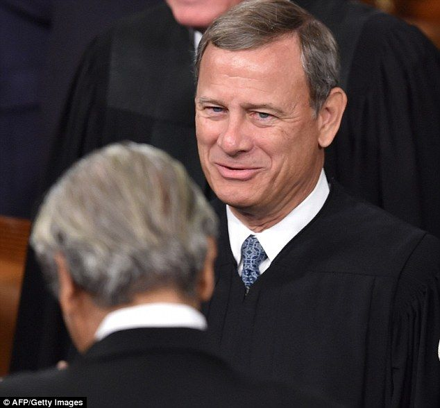 Supreme Court Chief Justice John Roberts was also in the audience on Capitol Hill Thursday