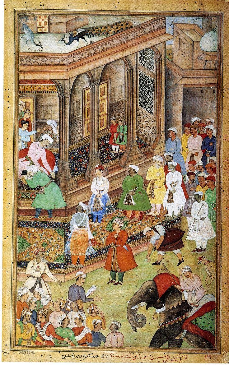 Akbar-e-Azam meeting Hindu & other nobleman of his Empire