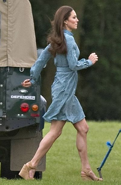 Kate Middleton Runs In Tall Wedges Royal Baby Watch