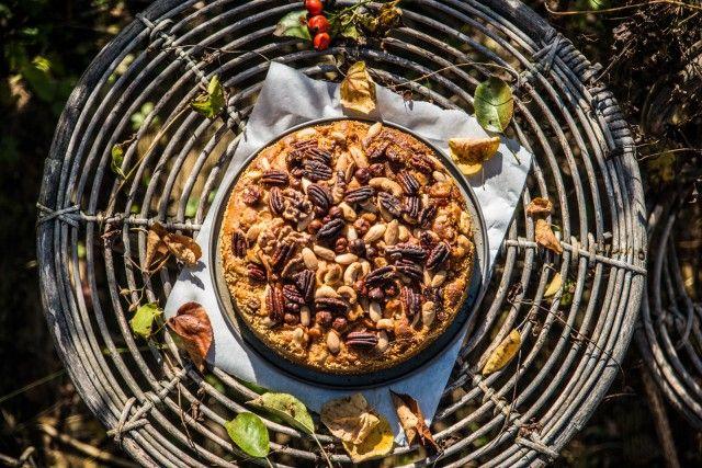 Schwedischer Apfelkuchen mit Nüssen | My Ling #ichbacksmir #apfelkuchen #apfel #apple