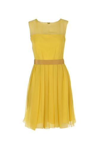 Yellow Dresses for Wedding Guest | yellow sleeveless dress to wear for wedding