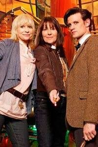 """The Sarah Jane Adventures ~ """"Death of the Doctor"""" featuring Jo Grant (Katy Manning), Sarah Jane Smith (Elisabeth Sladen) and the Eleventh Doctor (Matt Smith"""