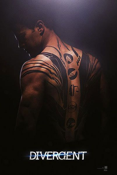 Póster Tobias Eaton (Cuatro) Divergente Póster con la imagen de Tobias Eaton perteneciente a la película Divergente basado en la novela escrita por Veronica Roth.