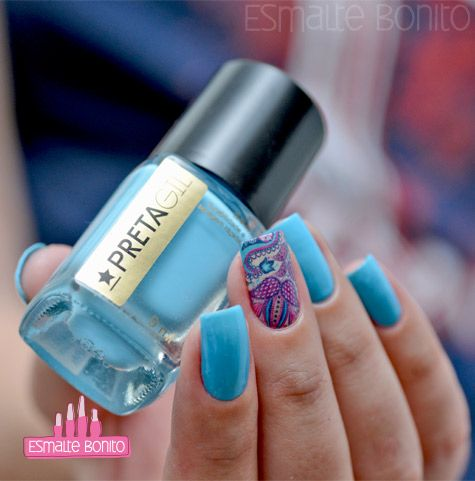 Esmalte Azul Ipanema Preta Gil