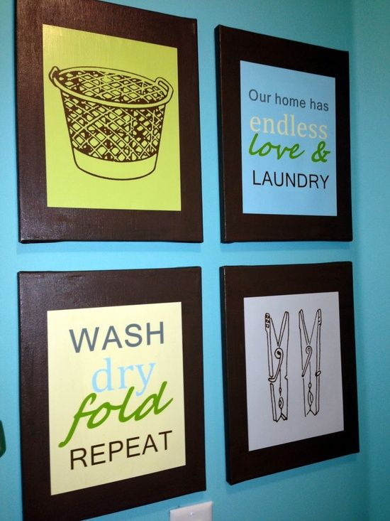Laundry Room Decor Prints DIY - My-House-My-Home