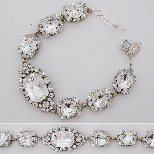 Haute Bride Bracelets | Link Brooch Bracelet, Wedding, Couture