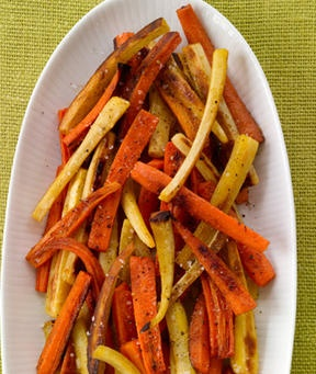 Spice-Roasted Carrots & Parsnips Recipe. Would be so pretty with ...