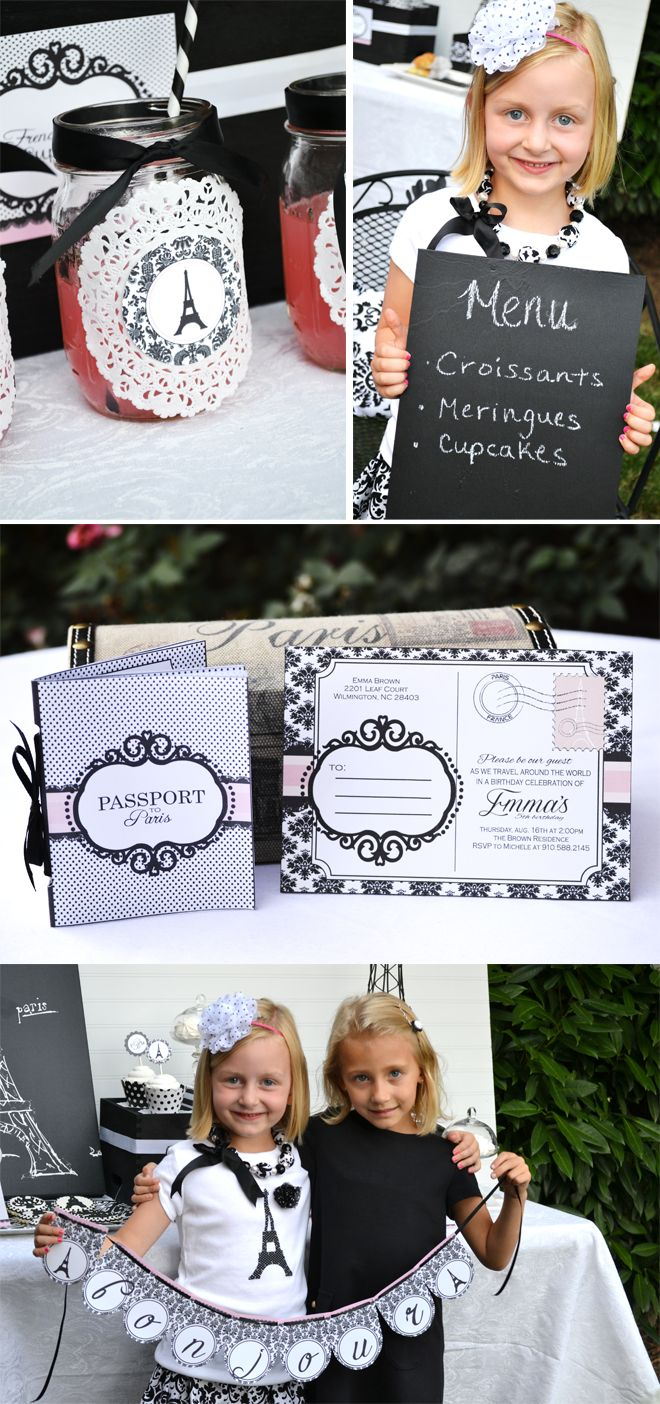 So, I've never been to Paris… perhaps that is why I just adore Parisian themed parties (or maybe it's because they're just darling?!). Michele of Sweet Threads Clothing Co submitted this super cute tea party she styled for her daughter and friends. Keeping things simple and chic, she stuck to an all black and white Parisian theme…   { read more }