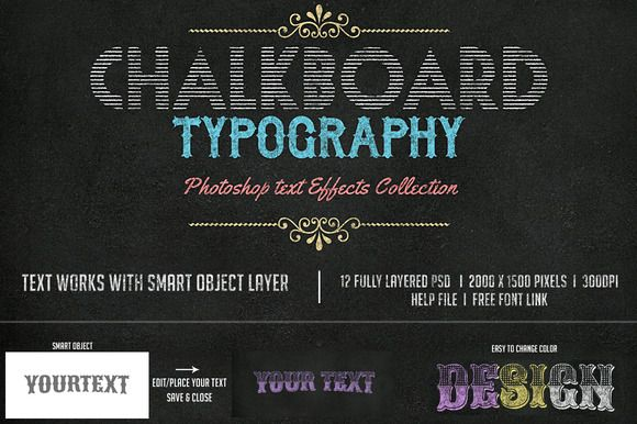 Check out Chalkboard Photoshop Effexts by creativeartx on Creative Market