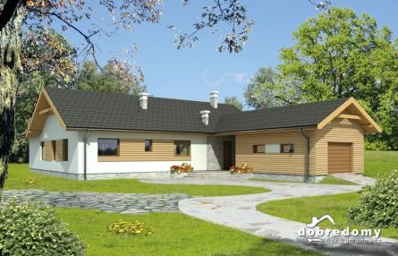 Takie projekty domu jak EGIDA <3 idealnie nadają się na domek na dużą działkę - brak schodów, co może być idealnym rozwiązaniem jeśli nie chcesz piętrowego domu :)