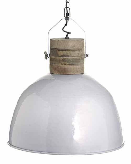 Lamp Hanglamp Wit Hout