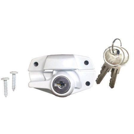 Ultra Hardware 46017 White Sash Window Lock