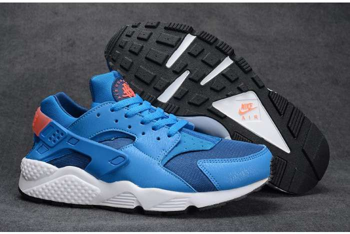 Nike Air Huarache Womens Mens White Blue Shoes