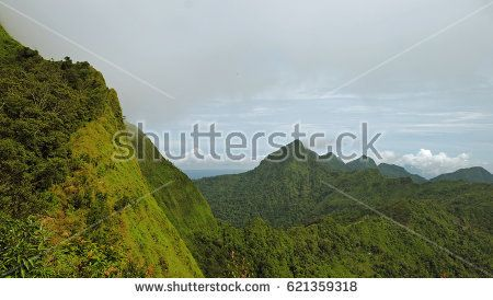 Stock Photo of Green hills landscape located at Central Java Indonesia