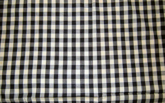 Vintage Black And White Gingham Fabric Remnant Unbranded Pour In Ami Pinterest Gingham