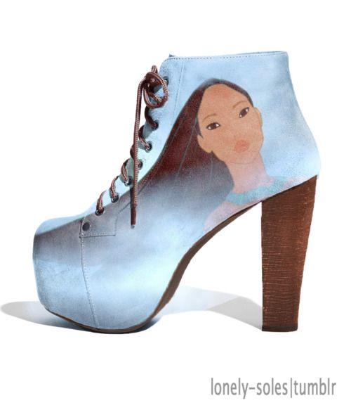 i really really really want these. Disney pocahontas heels so maj!!