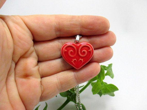 Heart Necklace - Valentines Day by Ceren Urmk on Etsy
