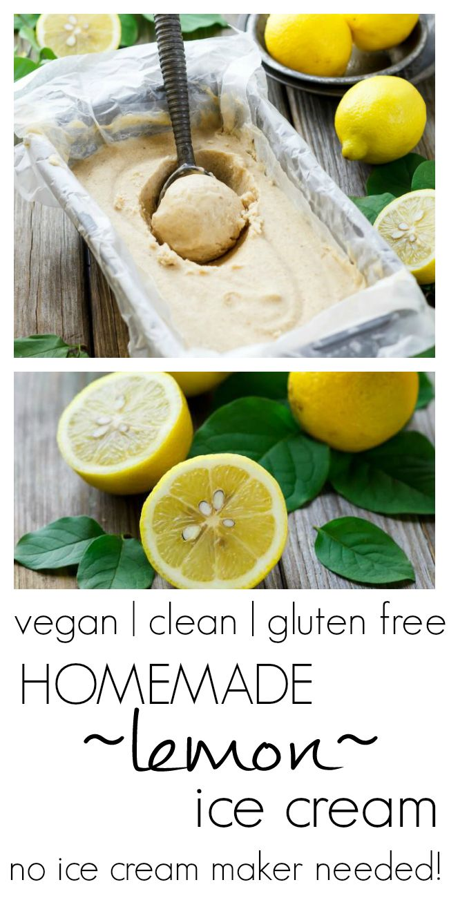 Homemade No-Churn Lemon Ice Cream | #vegan, #glutenfree, #cleaneating | no dairy or refined sugar, all lemon deliciosity